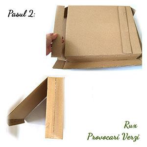 pasul 2 in realizarea cutiei de depozitare