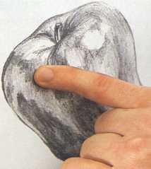 Estomparea tonurilor cu degetele