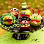 Mancare de Halloween - Dulciuri monstrii din mere