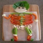 Mancare de Halloween - Aperitive scheleti din Legume