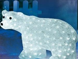 Decoratiune luminoasa de Craciun pentru casa si curte Urs polar