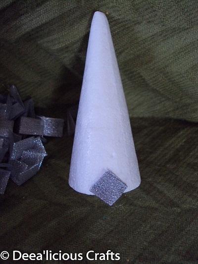 Handmade - impaturirea conului pentru a creea un bradut