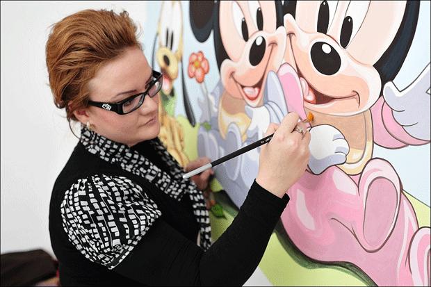 Picturi murale - Picturi pe pereti pentru camera copilului - Artist Andreea Nasoi