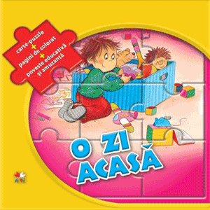 O zi acasa. Carte puzzle pentru copii mici