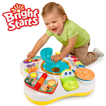 Masuta interactiva de joaca pentru bebelusi Bright Stars Activity Table