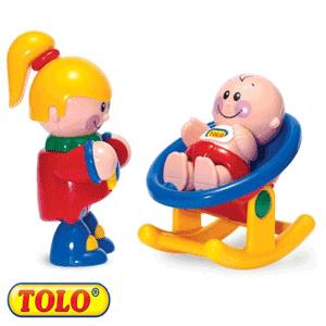 Tolo Toys First Friends: Fetita si bebelusul