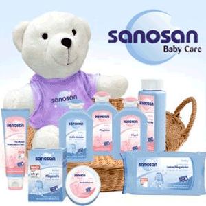 Produse pentru ingrijirea bebelusului Sanosan: sampon, ulei, sapun, creme de corp
