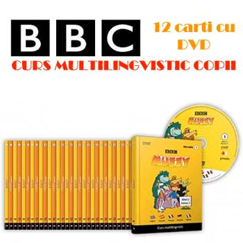 24 volume: Curs multilingvistic de invatare a 5 limbi straine pentru copii BBC Muzzy