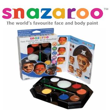 Kitt-urile de pictura pe fata, seturile de acuarele copii Snazaroo