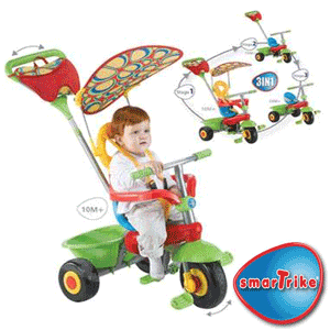 Tricicleta Bebe Smart Trike Candy tricicleta 3 in 1