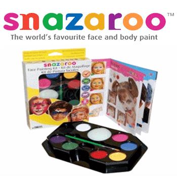 Set de pictura pe fata pentru copii Snazaroo