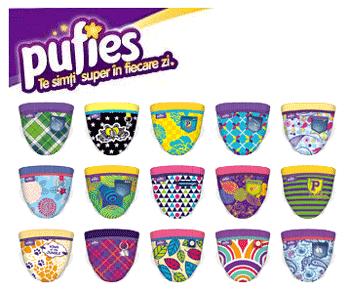 Scutecele colorate Pufies Fashion Collection - scutecele pentru bebelusii in pas cu moda