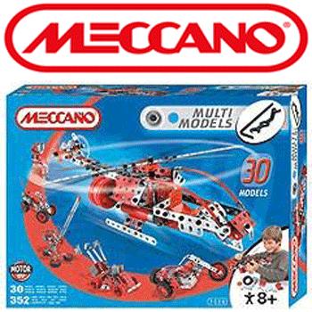 Set Meccano 30 de masinute si elicopter cu motor