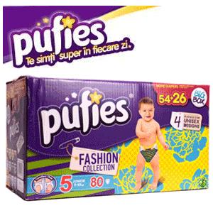 Scutecele colorate Pufies Fashion Collection, scutecele unisex pentru baietei si fetite