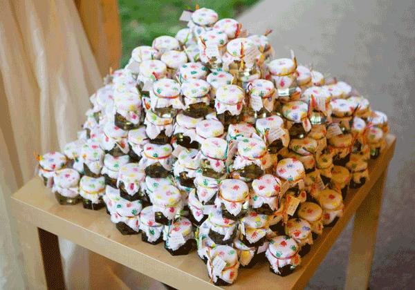 Marturii de nunta confectionate manual Miere si Flori