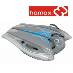 Hamax - Tornado - sanie gonflabila . Foloseste-o stand in genunchi, pe burta sau dandu-te in spate, apucand-o si sarind.