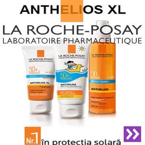 La Roche Posay cele mai bune creme si produse pentru protectia solara a copiilor: spray-uri, lotiuni si creme de plaja cu factor mare de protectie