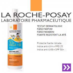 detalii in magazin Spray protectie solara copii  La Roche Posay Anthelios XL SPF50+ 200ml