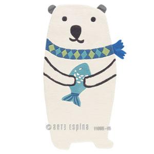 Covoare de camera copii - Animalute - Ursulet polar de culoare alba