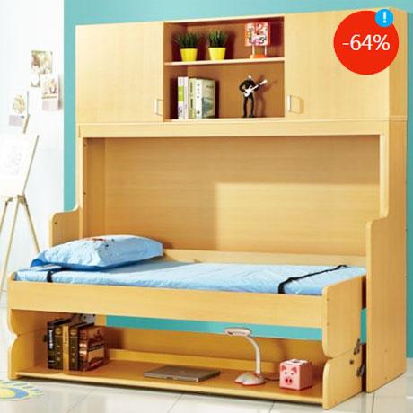 Dormitorul multifunctional Kring Shift pentru camera copiilor – Patul transformabil in birou studio