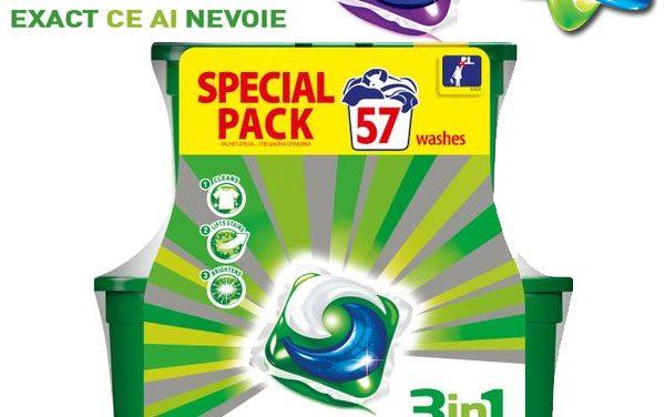 De ce merita capsulele de detergent gel-lichid Ariel 3in1 PODS?