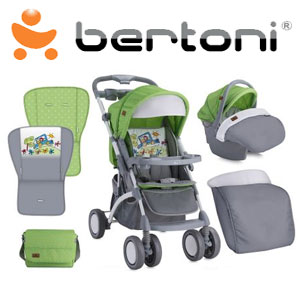 Carucior set Apollo Green Grey Car